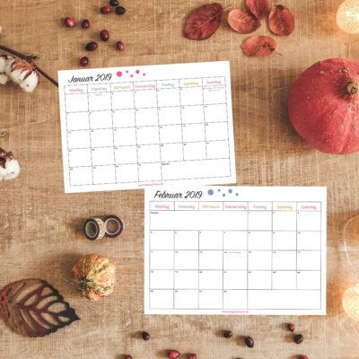 Herbstzeit ist Kalenderzeit (mit gratis Kalendervorlage)