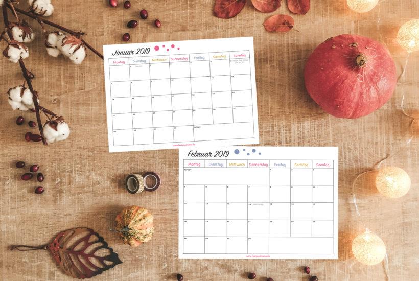 Kalender Kalendervorlage 2019 Herbst Herbstzeit Planen Planung Organisation Mama