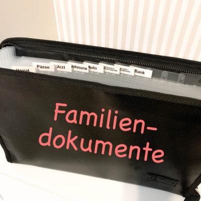 Familiendokumente organisieren – so und nicht anders!