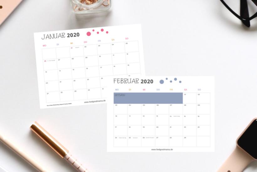 Kalender, Kalender 2020, Familienkalender, Familienkalender 2020, Kalendervorlage, Kalendervorlage 2020, Freebie, Kalender zum Ausdrucken, Herbst, Herbstzeit, Planen, Planung, Organisation, Mama