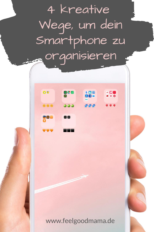 Smartphone, Smartphone organisieren, Apps, Apps sortieren, Organisation, Planung, digitale Organisation