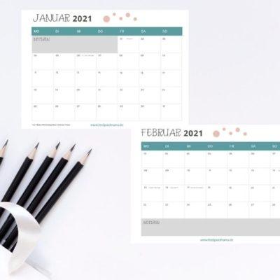 Kalender 2021 zum Ausdrucken – kostenlos