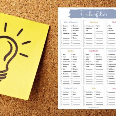 Nie mehr Stress beim Einkaufen – durch die organisierte Einkaufsliste